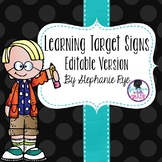 Learning Target Signs - Editable Version