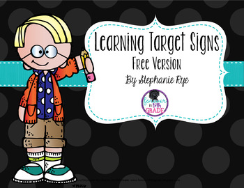 Learning Target Signs - Free Version