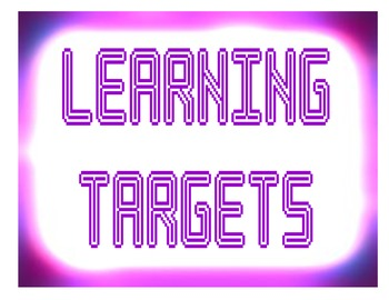 Learning Target Signs Neon