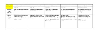 Learning Target & Success Criteria Planning Template