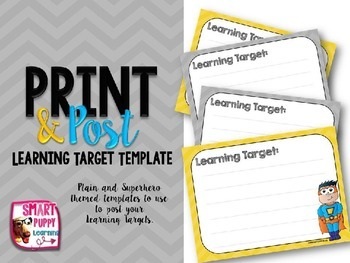 Learning Target Template