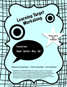 Learning Target Workalong Page