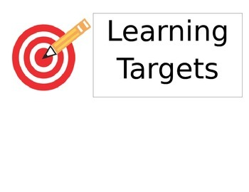 Learning Target poster/label