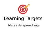 Learning Target posters in Spanish