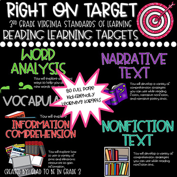 "Learning Targets: 3rd Grade Reading ""I Can"" Statements"