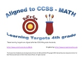 Learning Targets - 4th grade CCSS in math