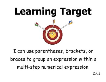 Learning Targets 5th grade CCSS - Math