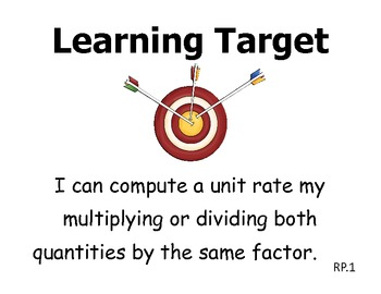 Learning Targets 7th grade Math - CCSS