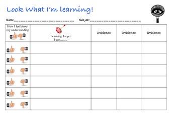 Learning Targets Accountability
