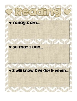 Learning Targets Background Paper
