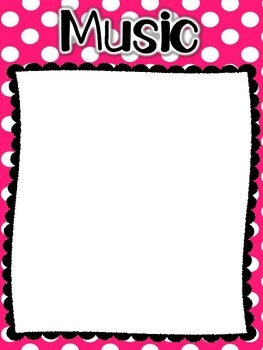 Learning Target Posters - Chevron and Polka Dot