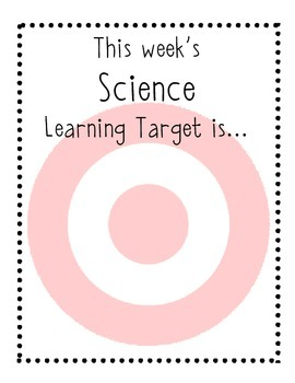 Learning Targets Classroom Signs