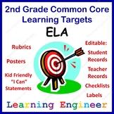 2nd Grade Checklist, 2nd Grade Assessment, Rubrics, Data T