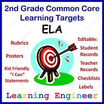 2nd Grade Checklists, 2nd Grade Learning Target Posters, C