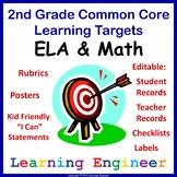 2nd Grade Assessment, 2nd Grade Checklist, Rubrics, Data Tracking, Quick Check