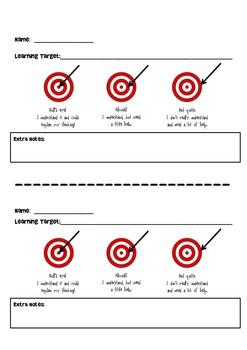 """Learning Targets - """"Hitting the Bull's eye!"""""""