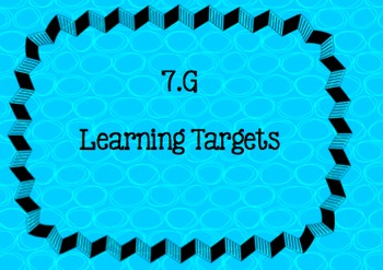 Learning Targets (I CAN ) 7th grade Geometry