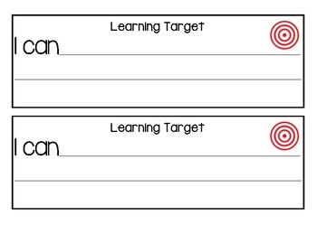 Learning Targets: I CAN...