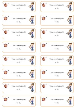 Learning Targets K4 CCSS- Math student labels