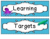 Learning Targets Labels - Ocean Theme