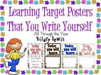 Learning Targets Made Easy - Stop the Insanity!