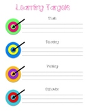 Learning Targets Poster
