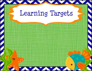 Learning Targets Poster - Fish Theme