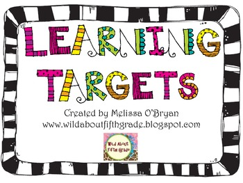Learning Targets Posters Custom Order