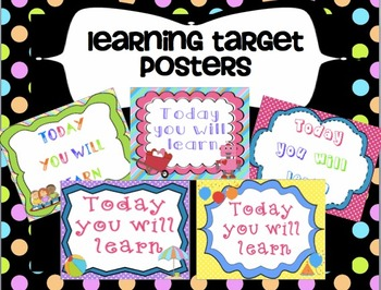 Learning Targets Printable Posters