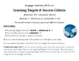 Learning Targets & Success Criteria: Engage NY/Eureka Math