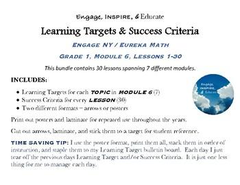 Learning Targets & Success Criteria: Engage NY/Eureka Math, 1st Grade, Module 6