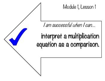 Learning Targets & Success Criteria: Engage NY/Eureka Math, 4th Grade,  Module 1
