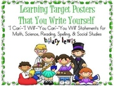 Learning Targets You Write Yourself-I Can, You Will, and I Will Statements