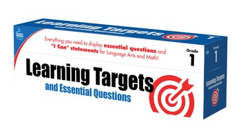 Learning Targets and Essential Questions Grade 1 SALE 20%