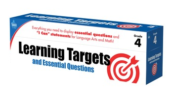 Learning Targets and Essential Questions Grade 4 SALE 20%