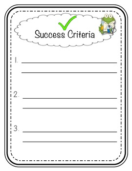 Learning Targets and Success Criteria Posters