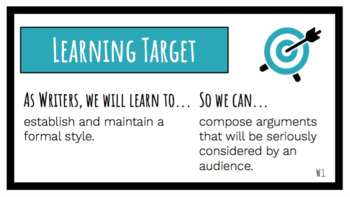Learning Targets and Success Criteria | Reading & Writing BUNDLE | EDITABLE