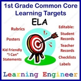 1st Grade Checklists, Learning Target Posters, 1st Grade Rubrics