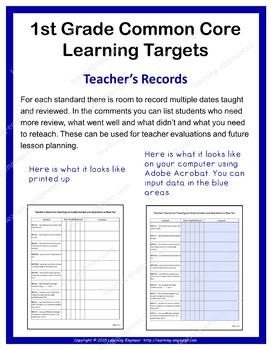 1st Grade Checklist, 1st Grade Assessment, Rubrics, Data Tracking, Quick Check