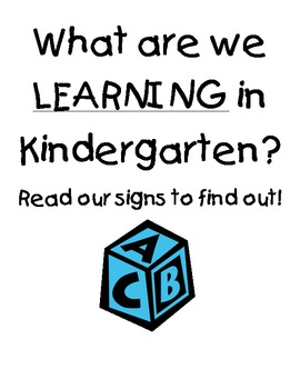 Learning Targets for Learning Areas