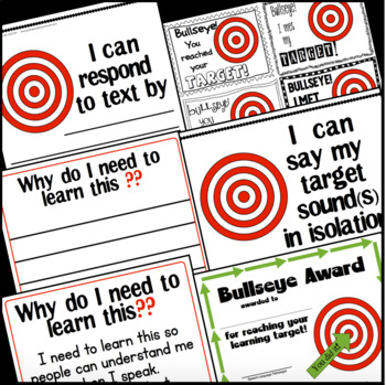 "Learning Targets for Speech & LAnguage Therapy {""I CAN"" statements}"