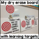 "Learning Targets for Speech & Language Therapy {""I WILL"" statements}"