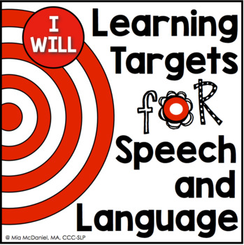 "Learning Targets for Speech & Language Therapy {""I WILL"" s"