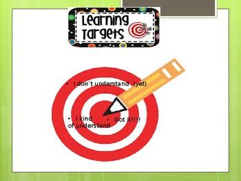 Learning Targets for Student's Desks