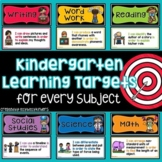 Kindergarten Learning Targets, Focus Wall, I Can Statements, Florida Standards
