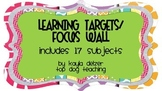 Learning Targets or Focus Wall with 17 Subjects