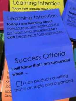 Learning Targets with success criteria - 3rd grade LANGUAGE standards