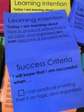 Learning Targets with success criteria - 3rd grade WRITING
