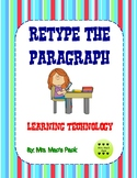 Learning Technology - Retype the Paragraph