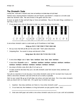 learning the chromatic scale by the band geek teachers pay teachers. Black Bedroom Furniture Sets. Home Design Ideas